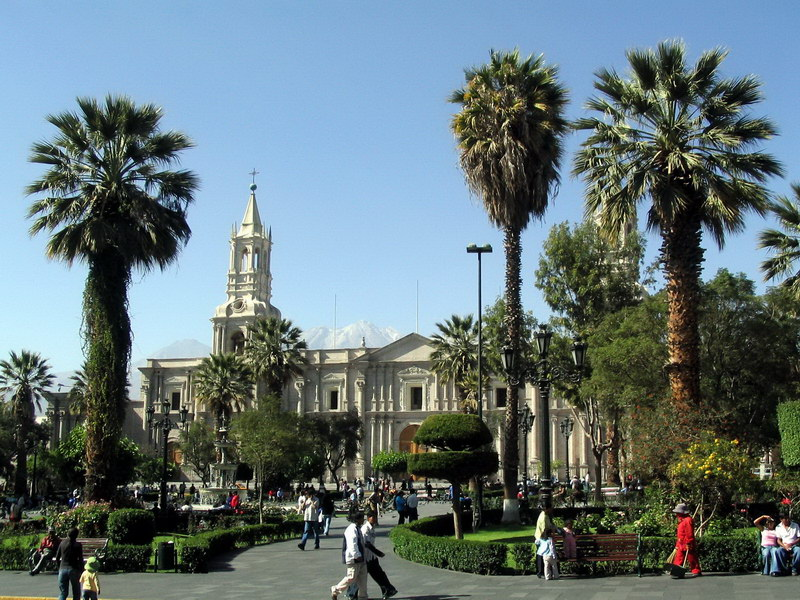 Arequipa - Cathedral at Plaza de Armas