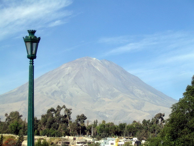 El Misti - the holy volcano mountain visible from every place in Arequipa