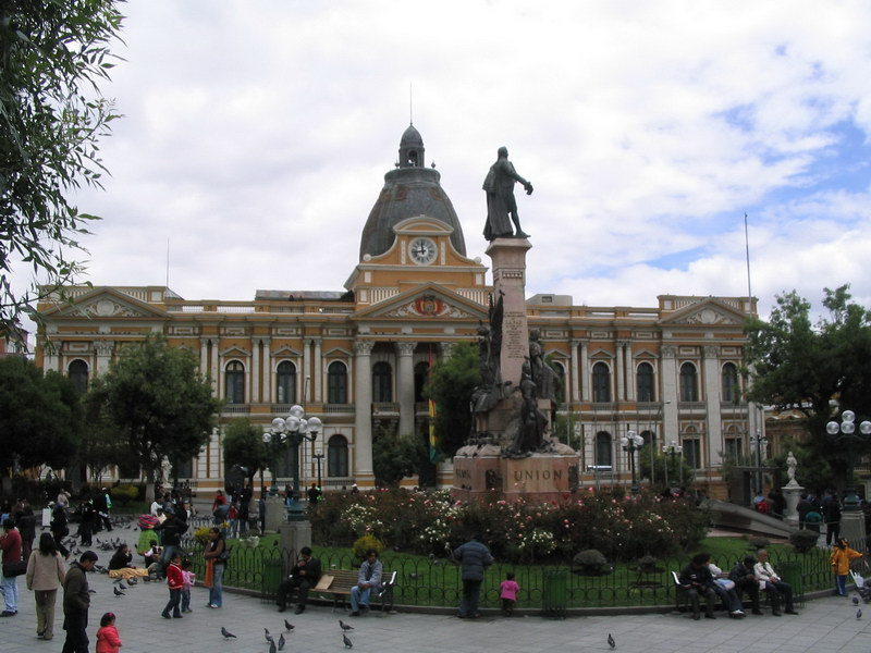 Houses of Parliament at Plaza Murillo