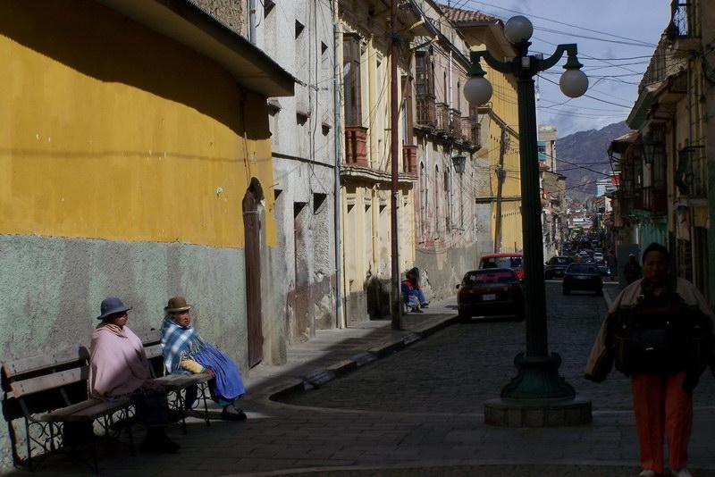 Street life at Casa de la Cruz Verde