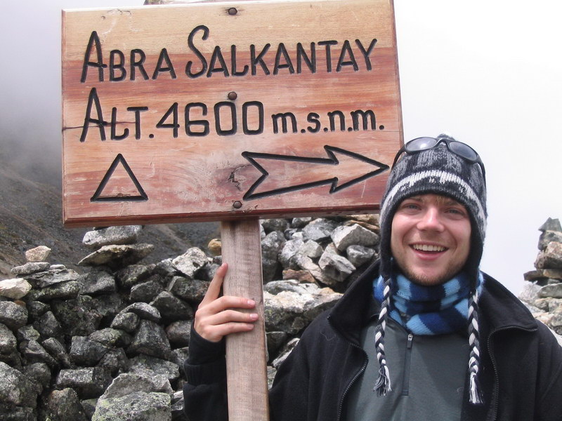 Peak of the Salkantay pass - 4600m!!