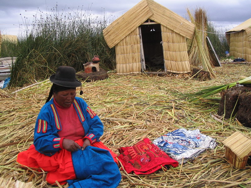 Los Uros (Uros Islands) - the so-called floating islands on the west (Peruvian) side of Lake Titicaca
