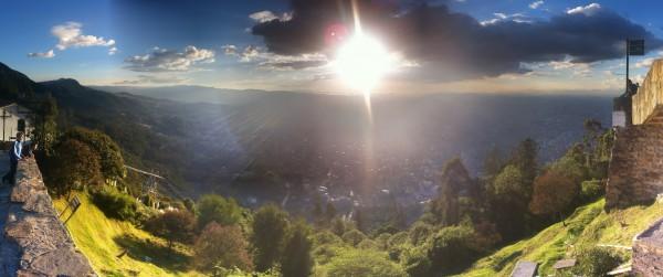 Colombia - Bogotá: View towards Bogotá from Cerro Monseratte
