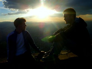 Colombia - Bogotá: Oliver & Niko at Cerro Monseratte