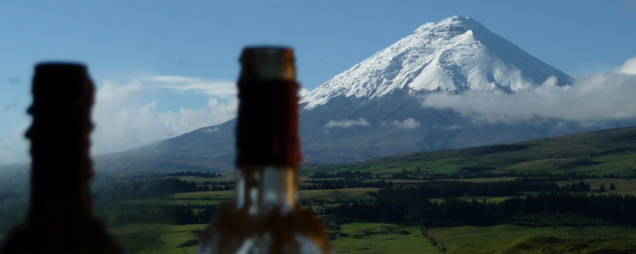 Ecuador - Cotopaxi: view towards the Cotopaxi from the dormitory