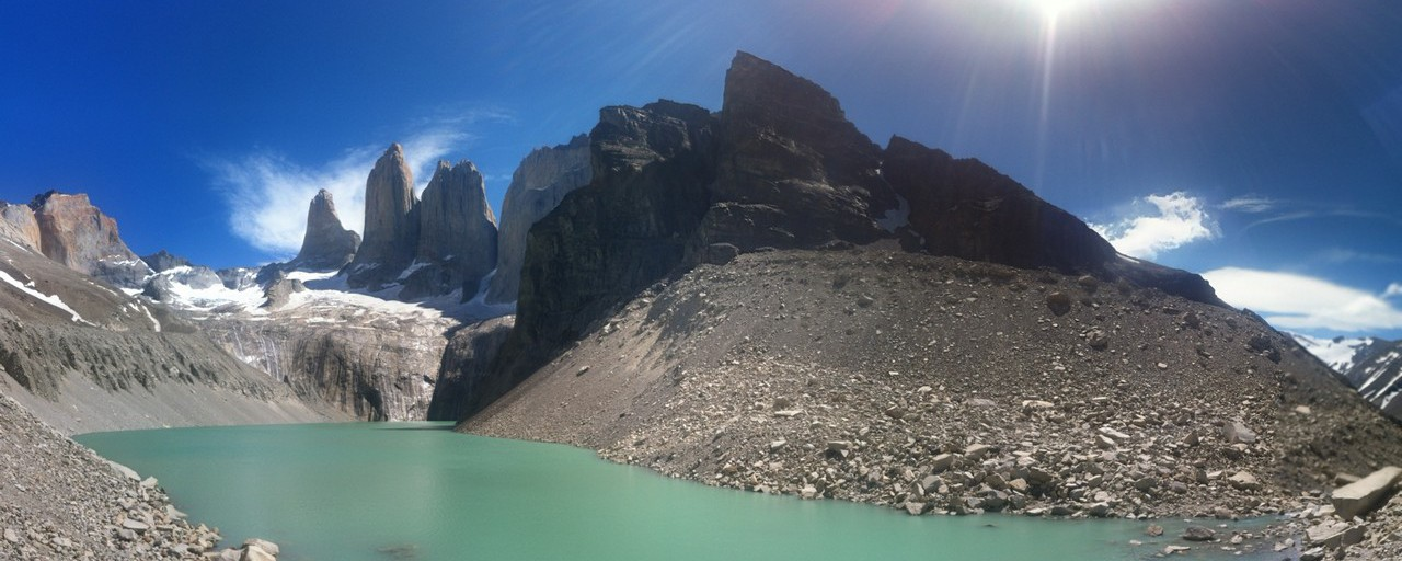 Torres del Paine National Park - finally arrived at the three Torres