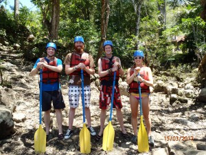 Colombia - San Gil: our rafting team
