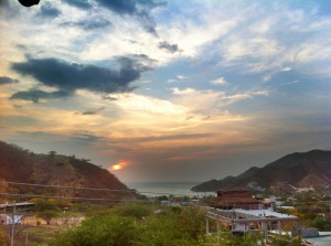 Colombia - Taganga: sunset mood from the viewpoint of La Casa de Felipe