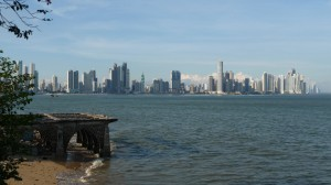 Panama - Panama City: View from Casco Viejo towards the new part