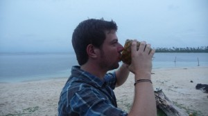 Panama - San Blas Islands: Turtle Island with Malibu Pineapple :)