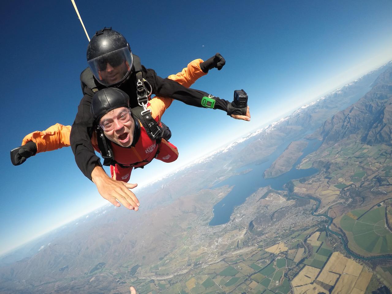 15.000 ft über Wanaka, Otago, Neuseeland (16.01.2020)
