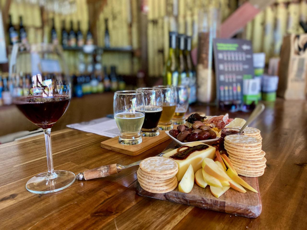Wine&Beer Tasting in Wannon, Victoria, Australien (24.10.2019)