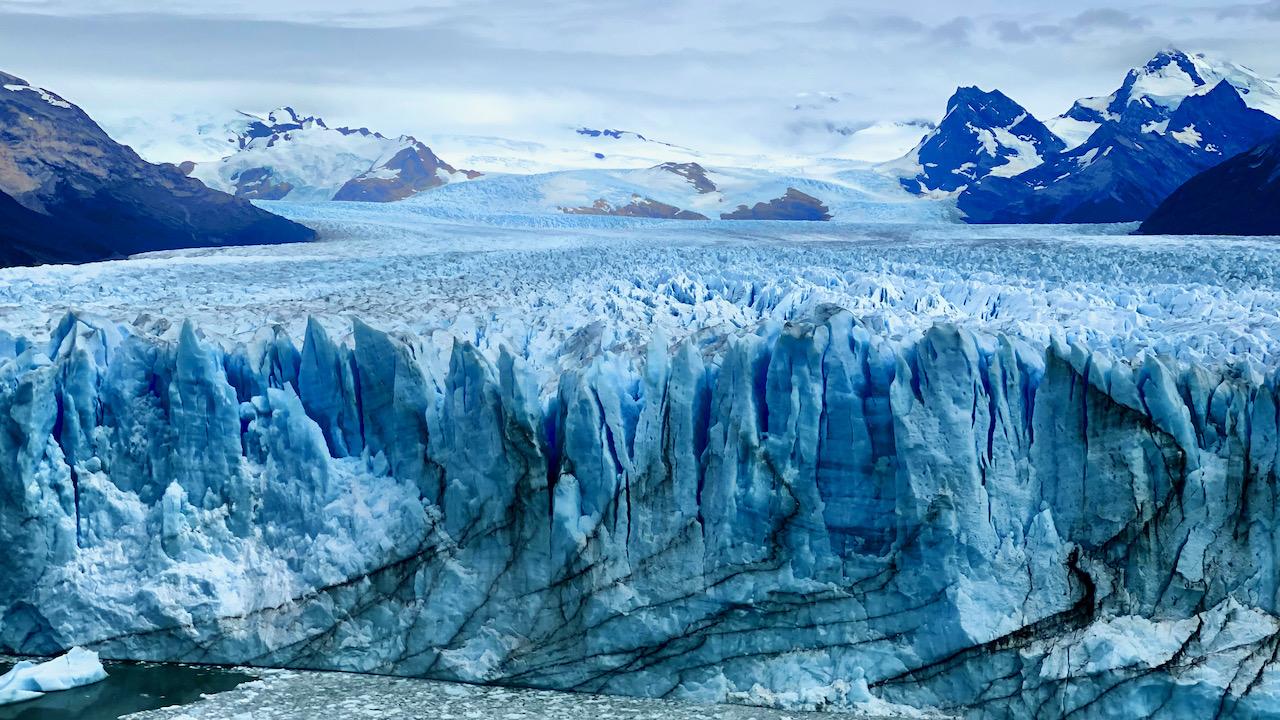 Perito Moreno Gletscher bei El Calafate, Santa Cruz, Argentinien (03.03.2020)