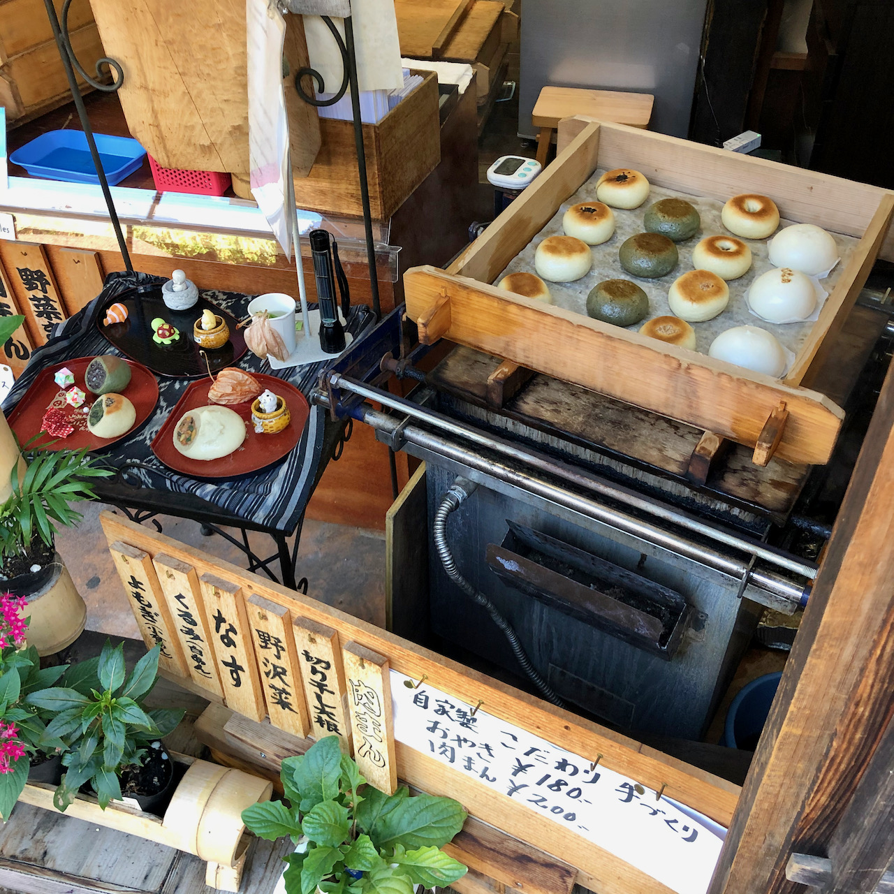 Dumplings in Tsumago, Nagiso-Machi, Kiso-Gun, Nagano, Japan (08.09.2019)