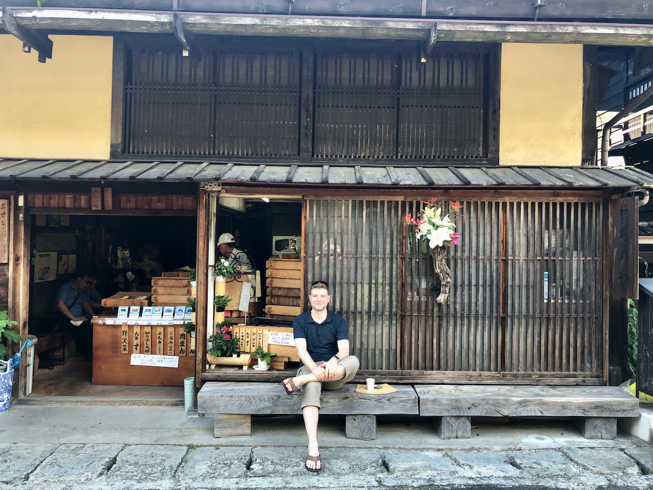 Dumpling-Shop in Tsumago, Nagiso-Machi, Kiso-Gun, Nagano, Japan (08.09.2019)