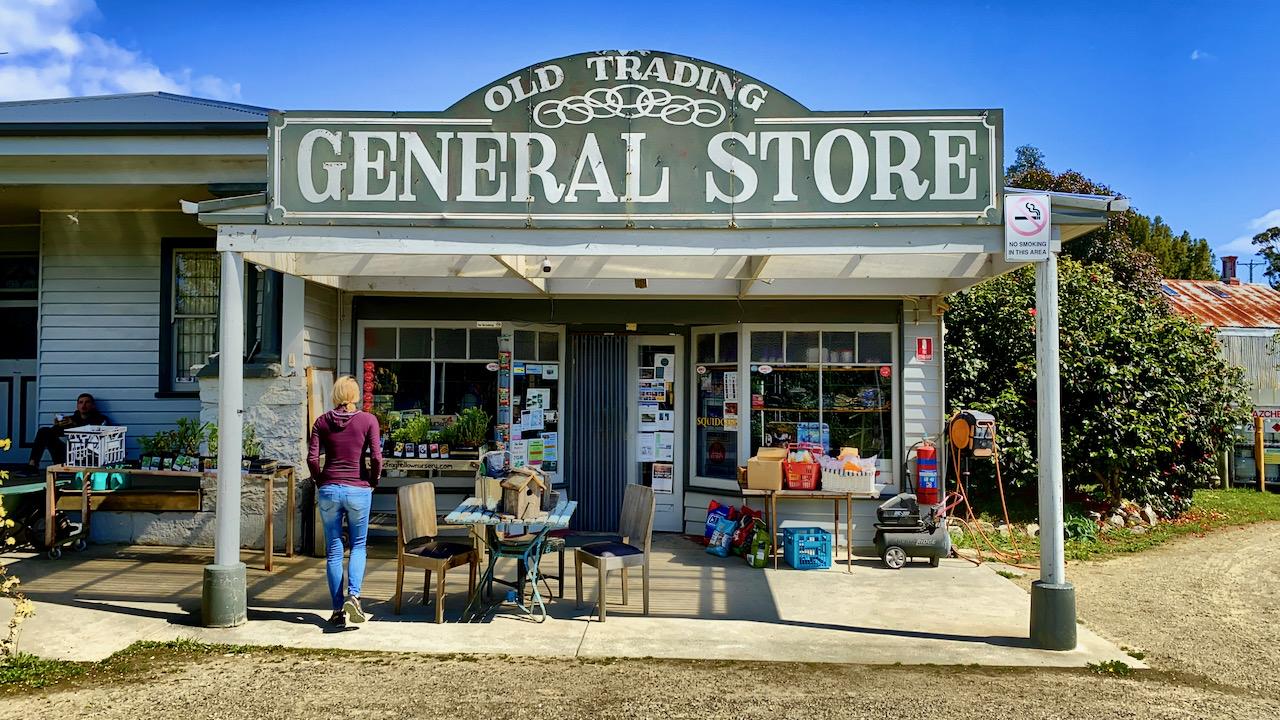 General Store in Premaydena, Tasmanien, Australien (05.11.2019)
