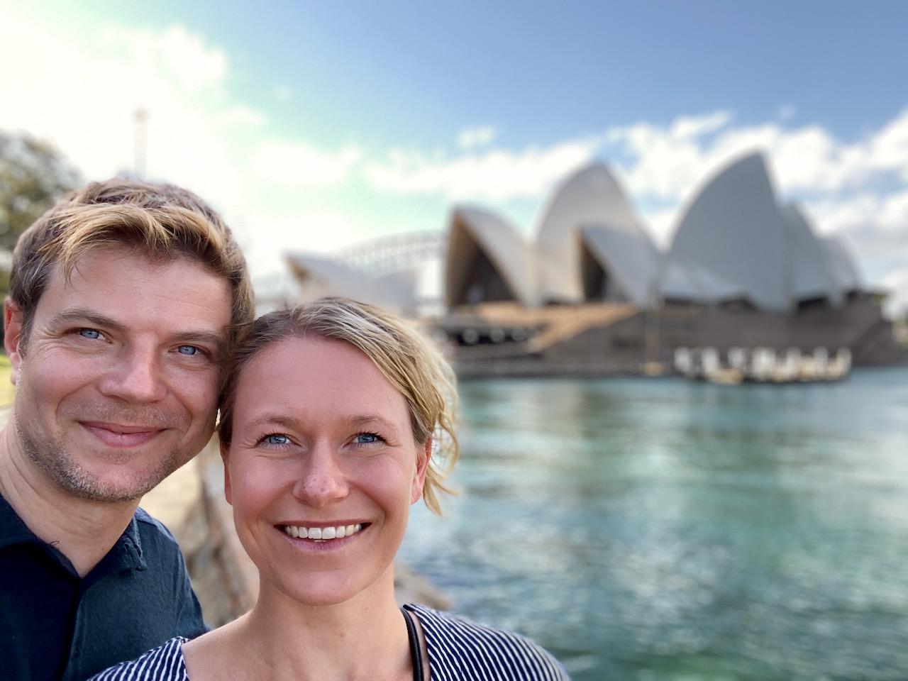 Opernsicht im Royal Botanic Garden, Sydney, NSW, Australien (08.11.2019)