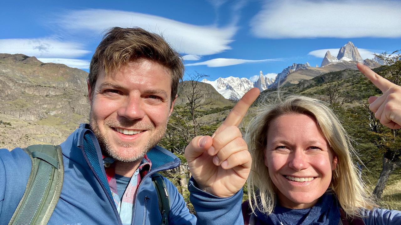 Super gutes Wetter für Cerro Torre & Fitz Roy, El Chaltén, Santa Cruz, Argentinien (08.03.2020)