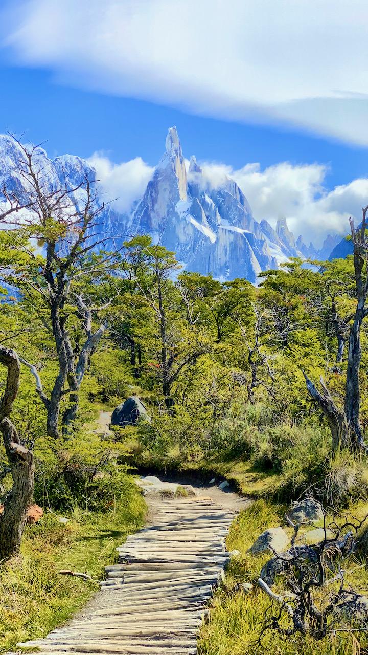 Fantastische Wanderung zum und Blick auf den Cerro Torre, El Chaltén, Santa Cruz, Argentinien (08.03.2020)