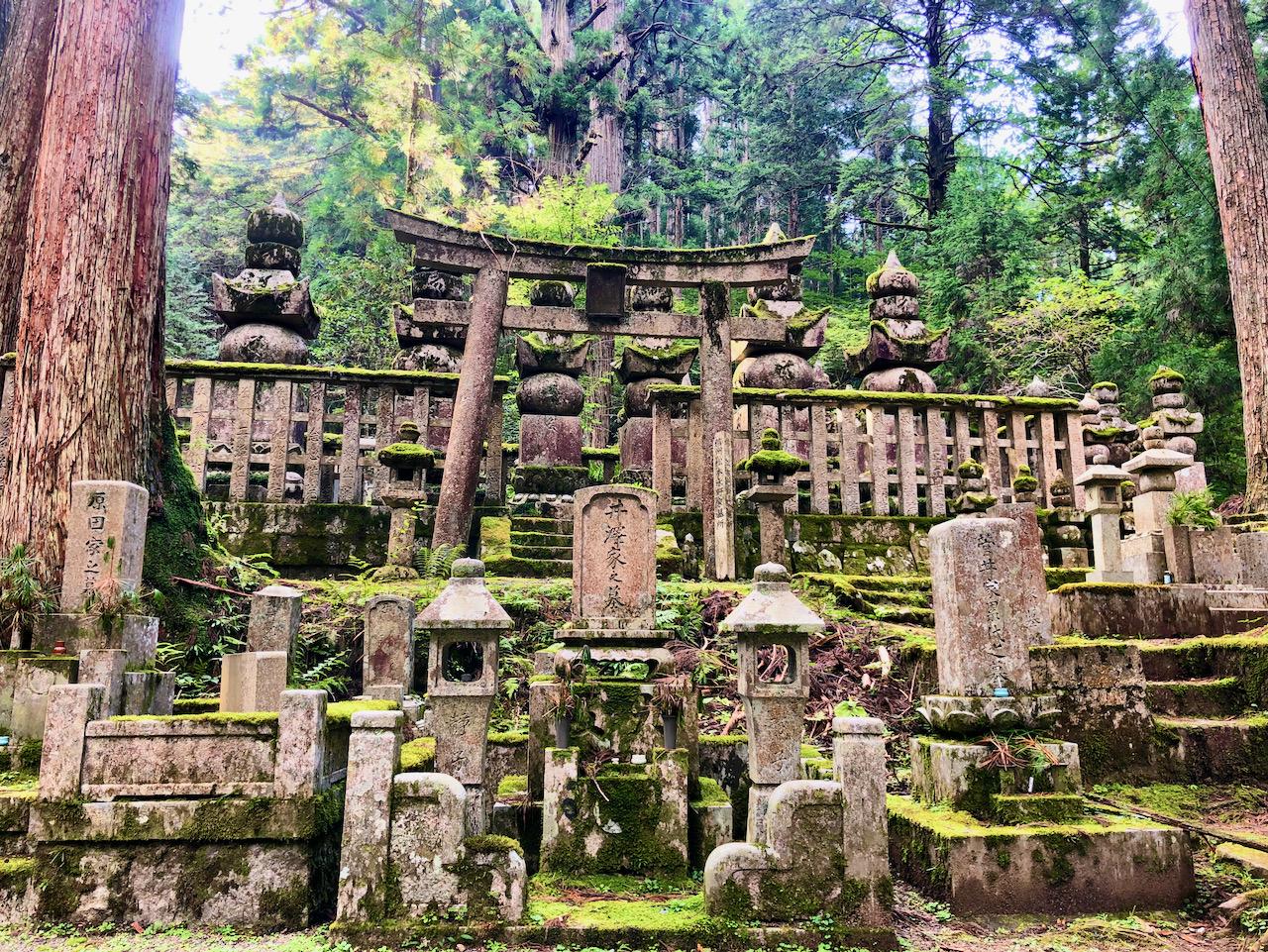 Friedhof auf Koyasan, Ito-Gun, Präfektur Wakayama, Japan (16.09.2019)