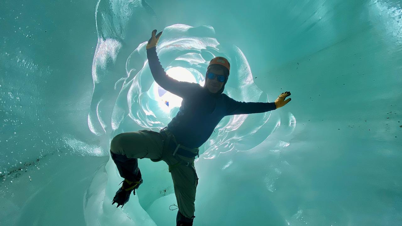 Letzte Gletscher-Wanderung vor Corona-Shutdown im Nationalpark Laguna San Rafael, Chile Chico, Région del Aisén, Chile (17.03.2020)