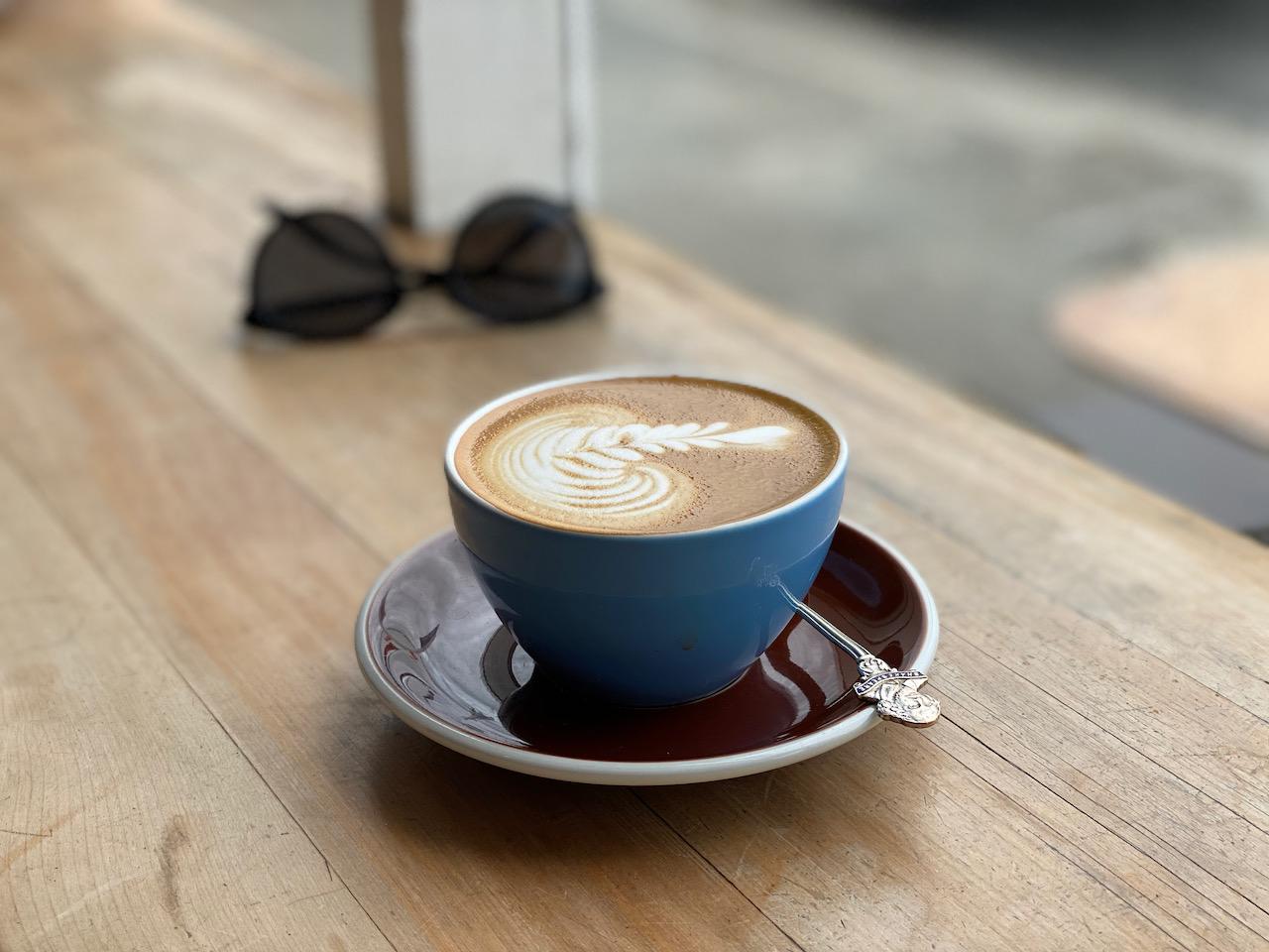 Neuseeländische Kaffeepause in Amberley, Canterbury, Neuseeland (23.12.2019)